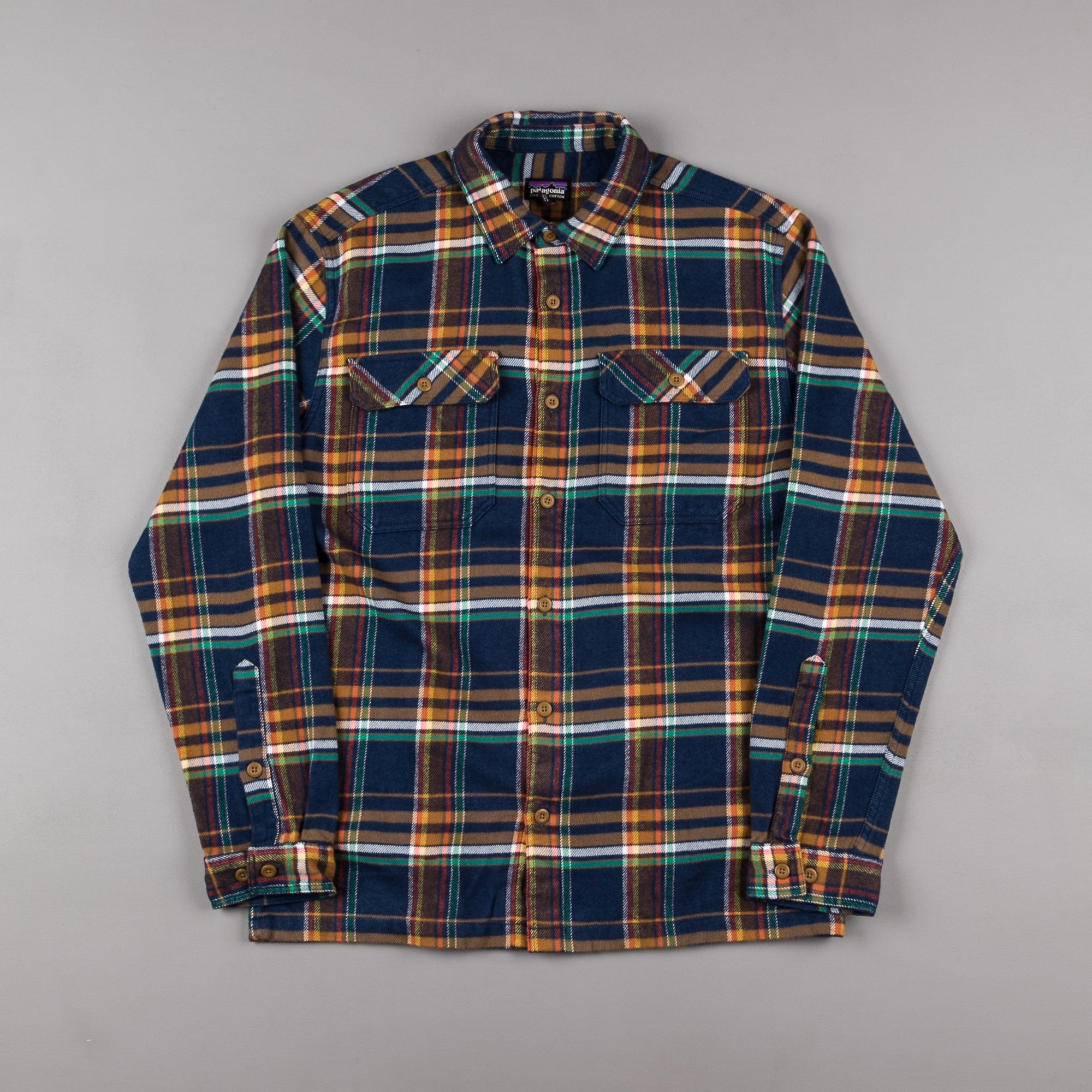 Patagonia Fjord Flannel Shirt - Blue Ox: Navy Blue
