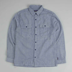 Patagonia Fjord Flannel Shirt Fancy Chambray: Classic Navy