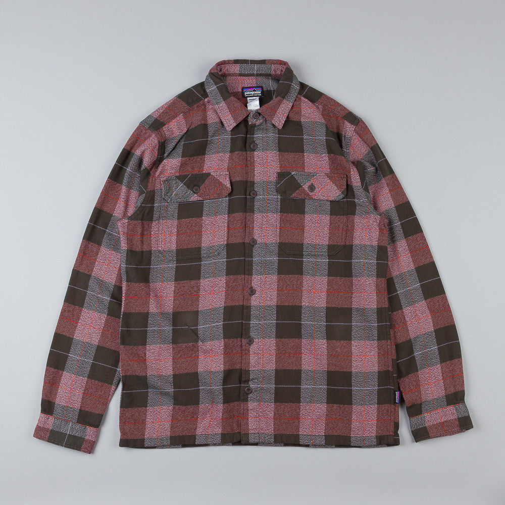 Patagonia Fjord Flannel Shirt Hayburner: Java Brown