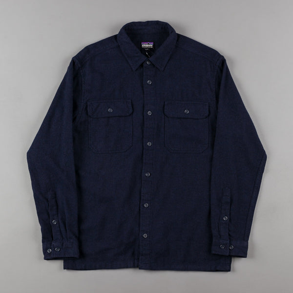 Patagonia Fjord Flannel Shirt - Navy Blue