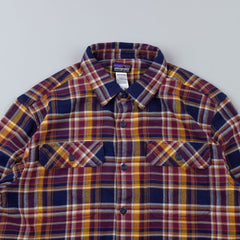 Patagonia Fjord Flannel Shirt Saucer Pass: Classic Navy