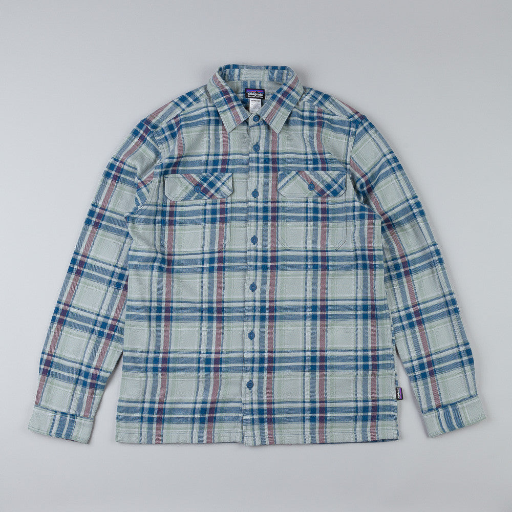 Patagonia Fjord Flannel Shirt Saucer Pass: Feather Grey