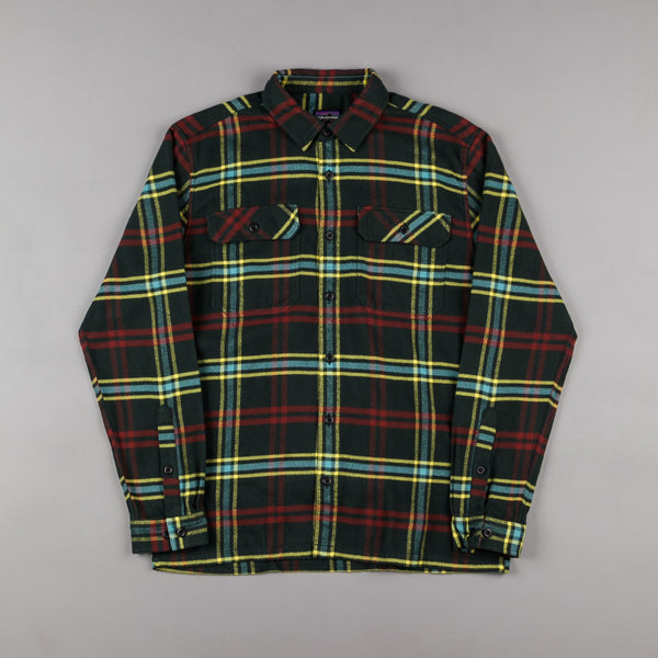 Patagonia Fjord Flannel Shirt - Windrow: Carbon