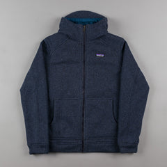 Patagonia Insulated Better Sweater Hooded Sweatshirt - Classic Navy / Glass Blue