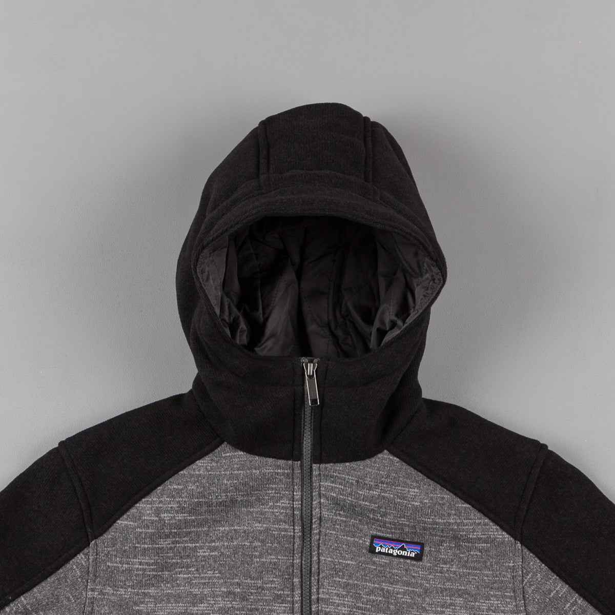 Patagonia Insulated Better Sweater Hooded Sweatshirt - Nickel / Black