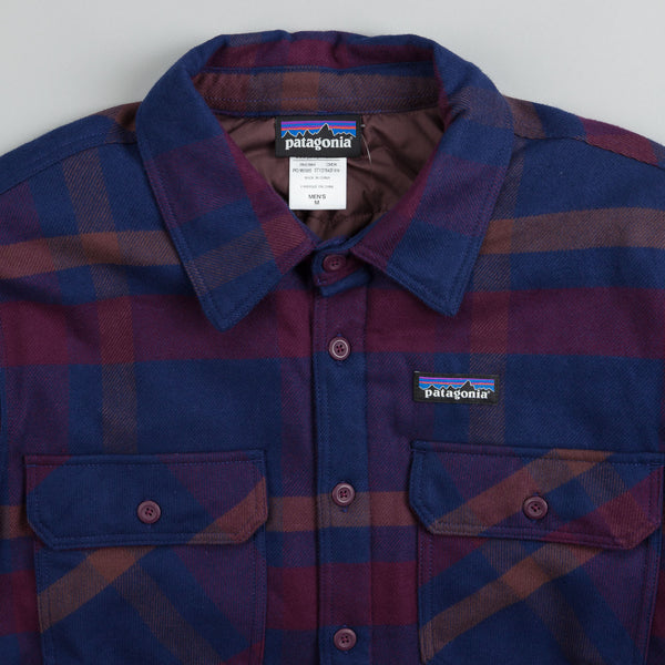 Patagonia Insulated Fjord Flannel Jacket Comstock Dark