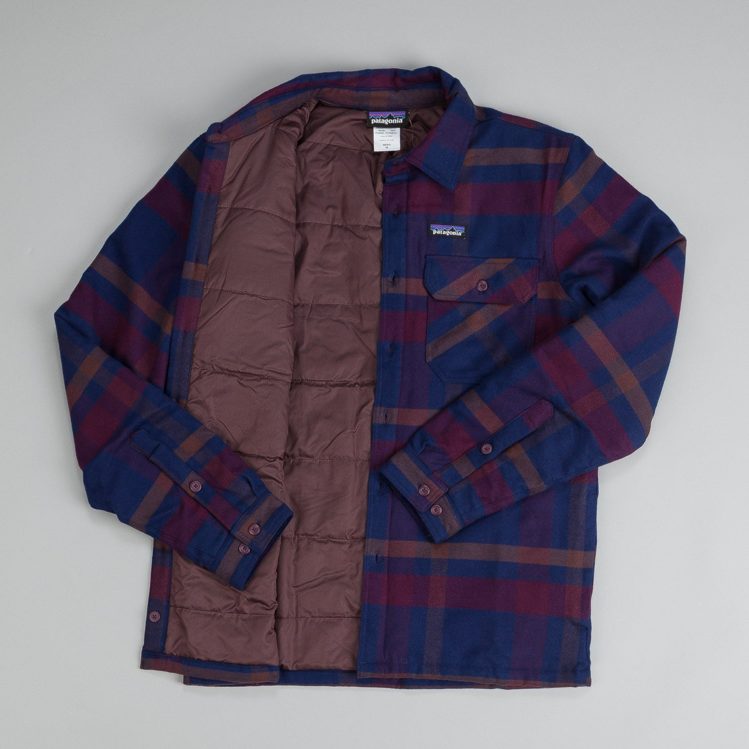 Patagonia Insulated Fjord Flannel Jacket Comstock Dark Currant