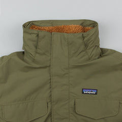 Patagonia Isthmus Parka - Fatigue Green / Bear Brown
