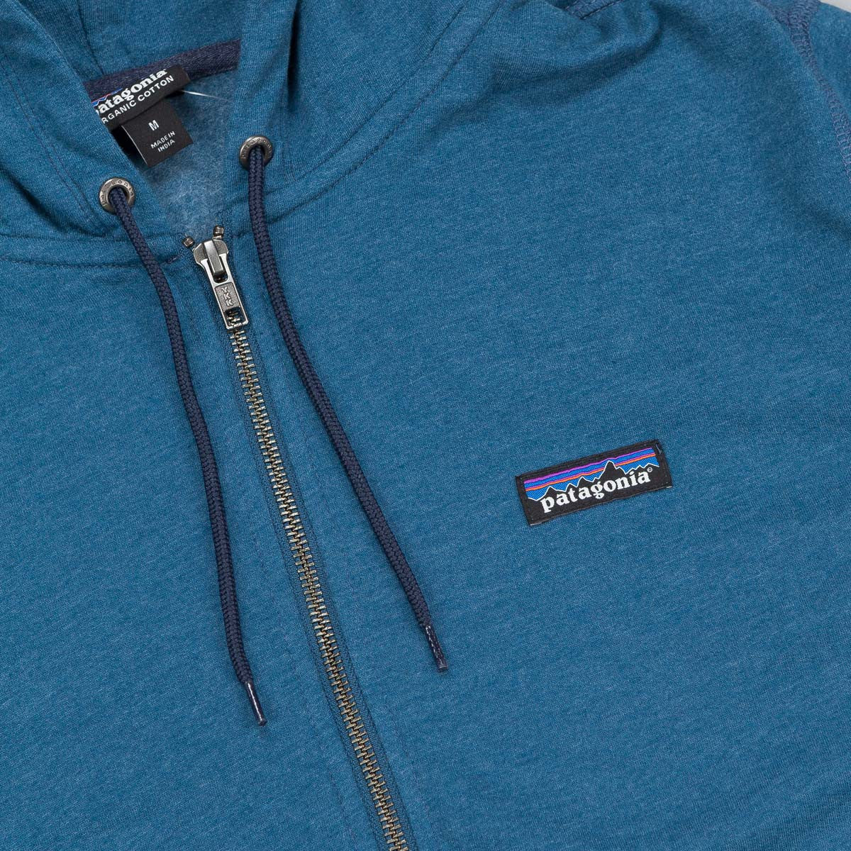 Patagonia Lightweight Full Zip Hooded Sweatshirt - Glass Blue