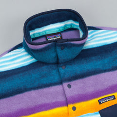 Patagonia Lightweight Synchilla Snap-T Pullover Fleece - Painted Fitz Stripe Navy Blue