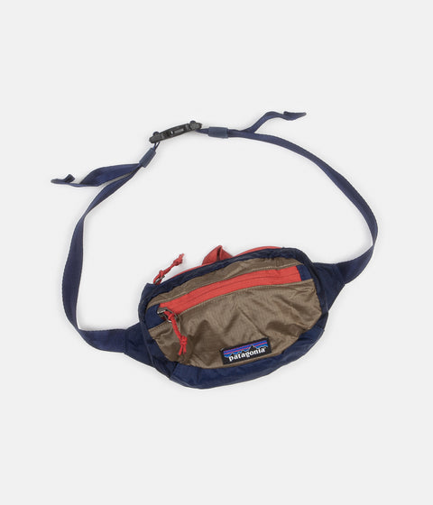 Patagonia Lightweight Travel Mini Hip Pack - Classic Navy / Mojave Khaki