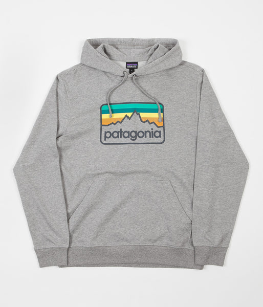 Patagonia Line Logo Badge Hoodie - Feather Grey