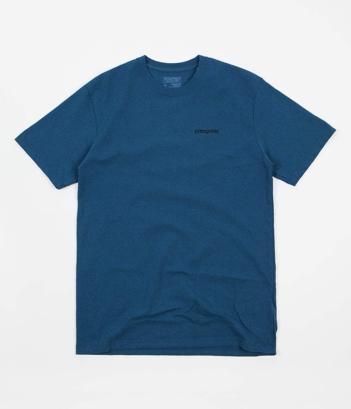 Patagonia Line Logo Badge T-Shirt - Glass Blue