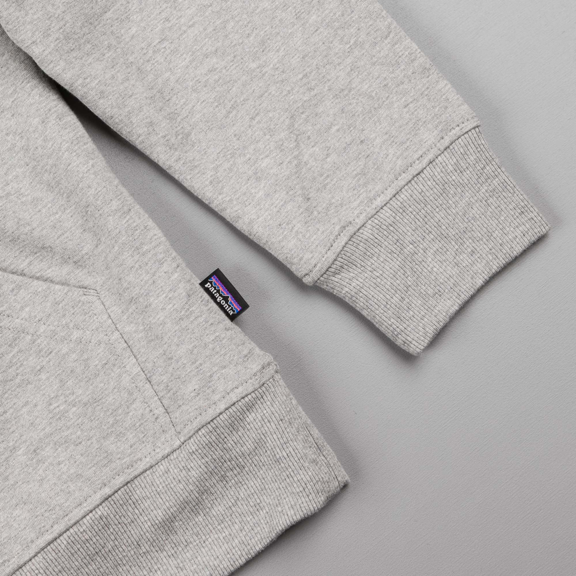 Patagonia Line Logo Hooded Sweatshirt - Feather Grey