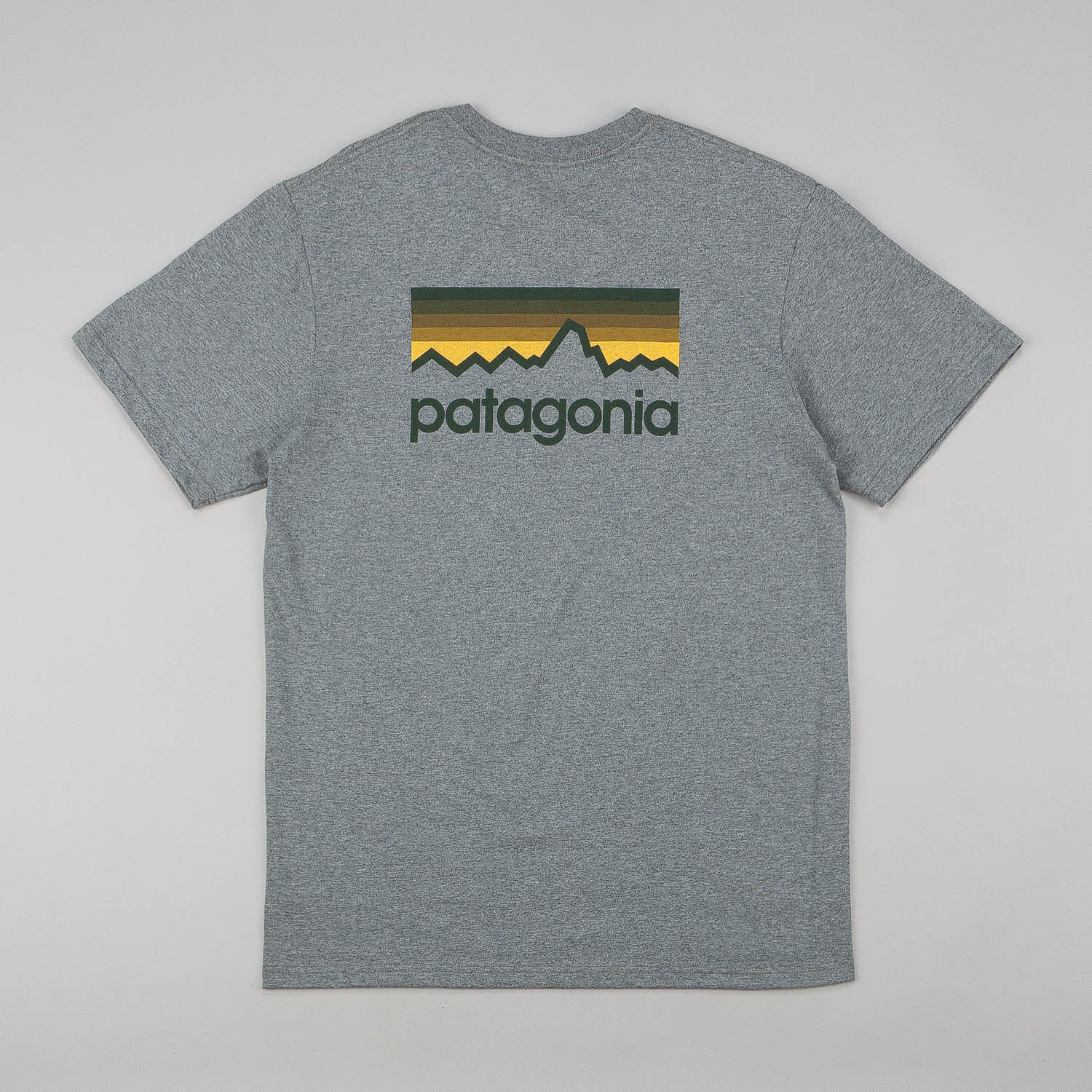 Patagonia Line Logo T-Shirt - Gravel Heather