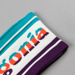 Patagonia Lined Knit Headband - Park Stripe Band: Birch White