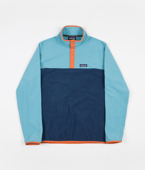 Patagonia Micro D Snap-T Pullover Fleece - Stone Blue / Dam Blue