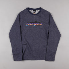 Patagonia Nightfall Fitz Roy Lightweight Crewneck Sweatshirt - Navy Blue