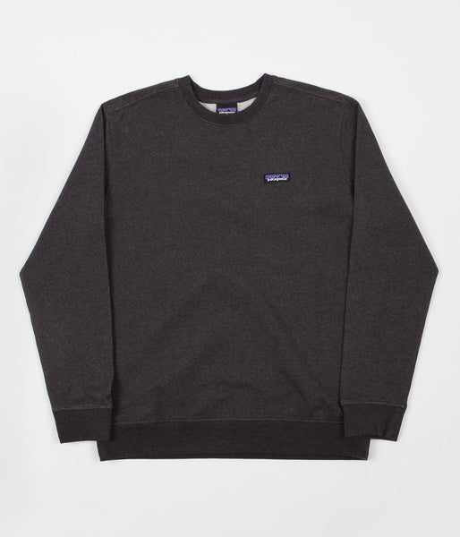 Patagonia P-6 Label Crewneck Sweatshirt - Black