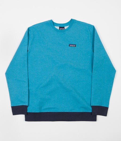 Patagonia P-6 Label Crewneck Sweatshirt - Filter Blue