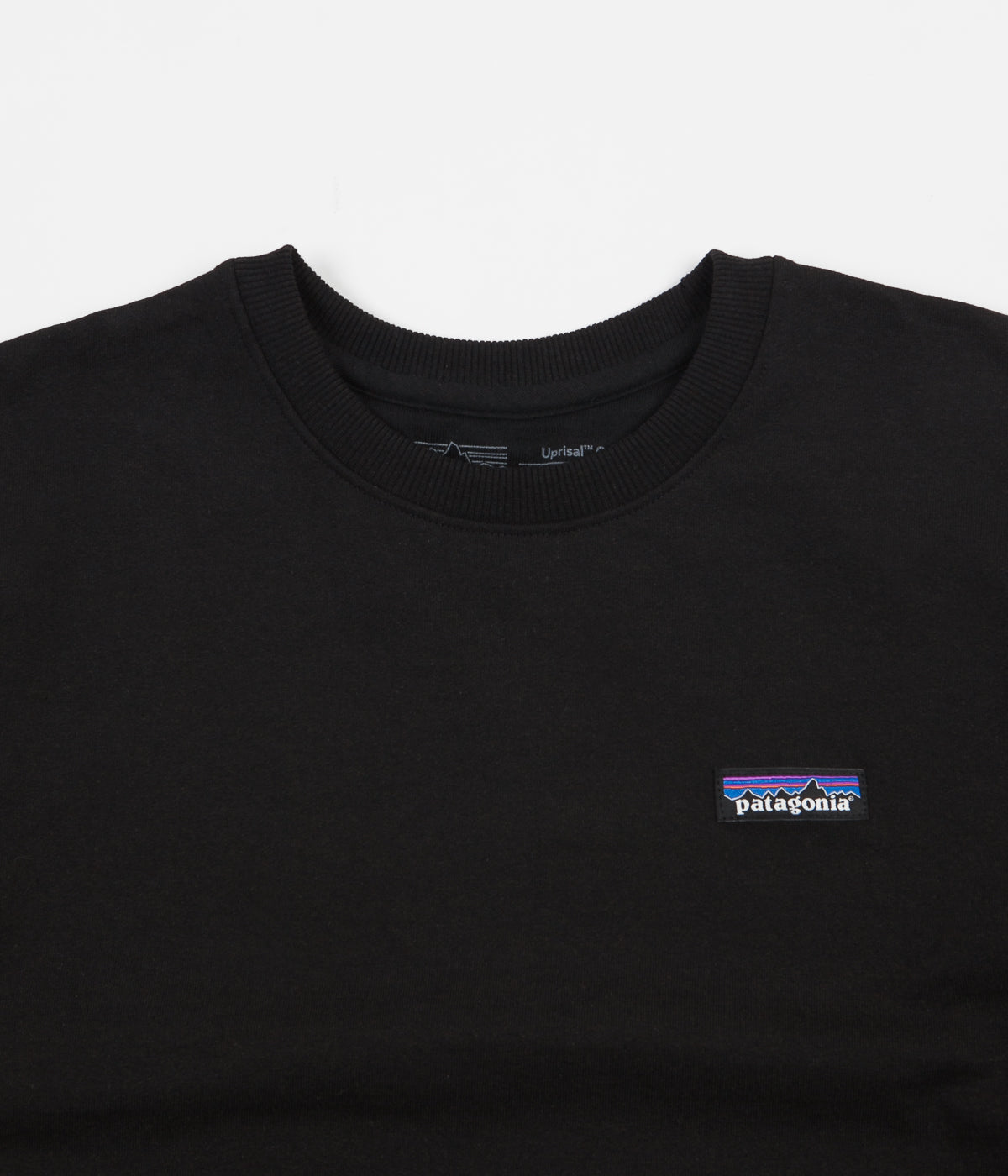 Patagonia P-6 Label Uprisal Crewneck Sweatshirt - Black