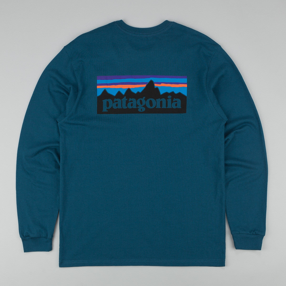 Patagonia P-6 Logo Long Sleeve T-Shirt - Crater Blue