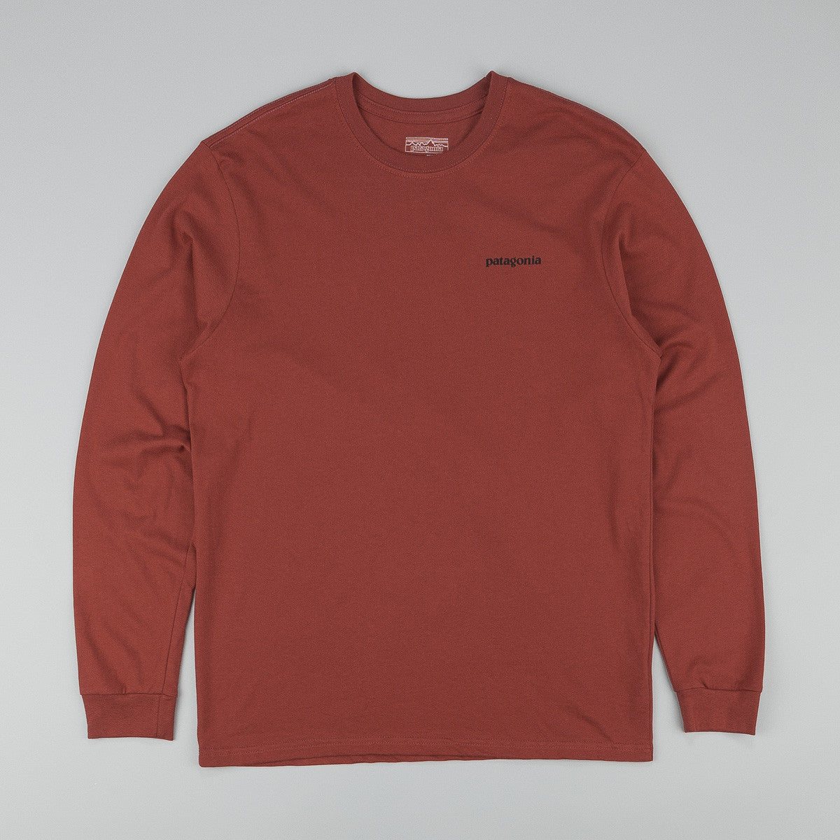 Patagonia P-6 Logo L/S T-Shirt - Rusted Iron