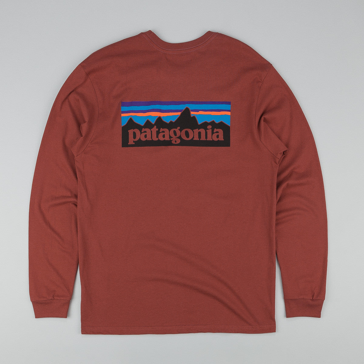 Patagonia P-6 Logo Long Sleeve T-Shirt - Rusted Iron