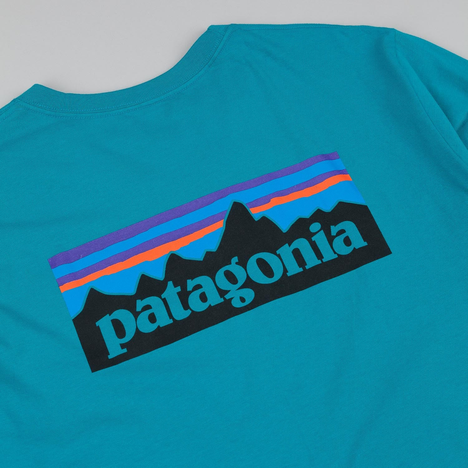 Patagonia P-6 Logo Long Sleeve T-Shirt - Tobago Blue