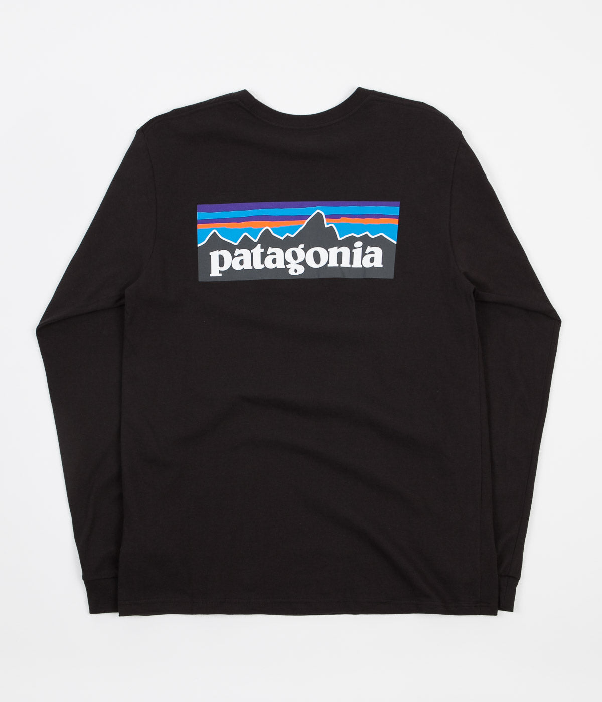Patagonia P-6 Logo Long Sleeve T-Shirt - Black