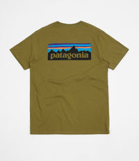 Patagonia P-6 Logo Organic T-Shirt - Willow Herb Green