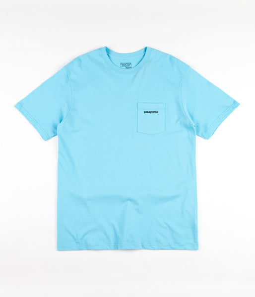 Patagonia P-6 Logo Pocket T-Shirt - Cuban Blue