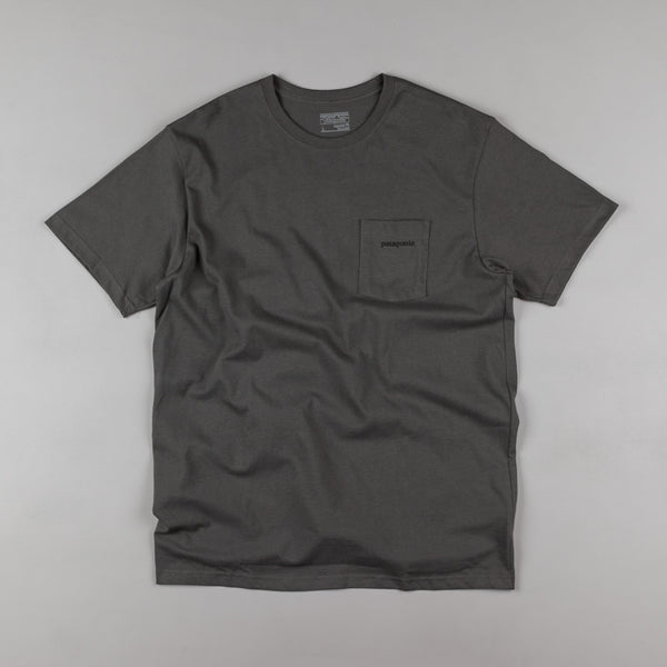 Patagonia P-6 Logo Pocket T-shirt - Forge Grey