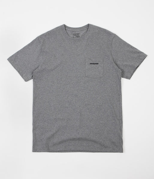 Patagonia P-6 Logo Pocket T-Shirt - Gravel Heather