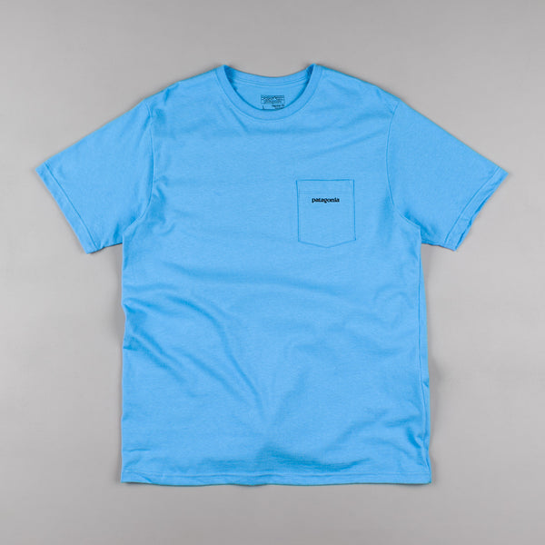Patagonia P-6 Logo Pocket T-shirt - Skipper Blue