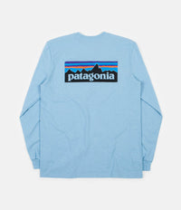 Patagonia P-6 Logo Responsibili-Tee Long Sleeve T-Shirt - Break Up Blue