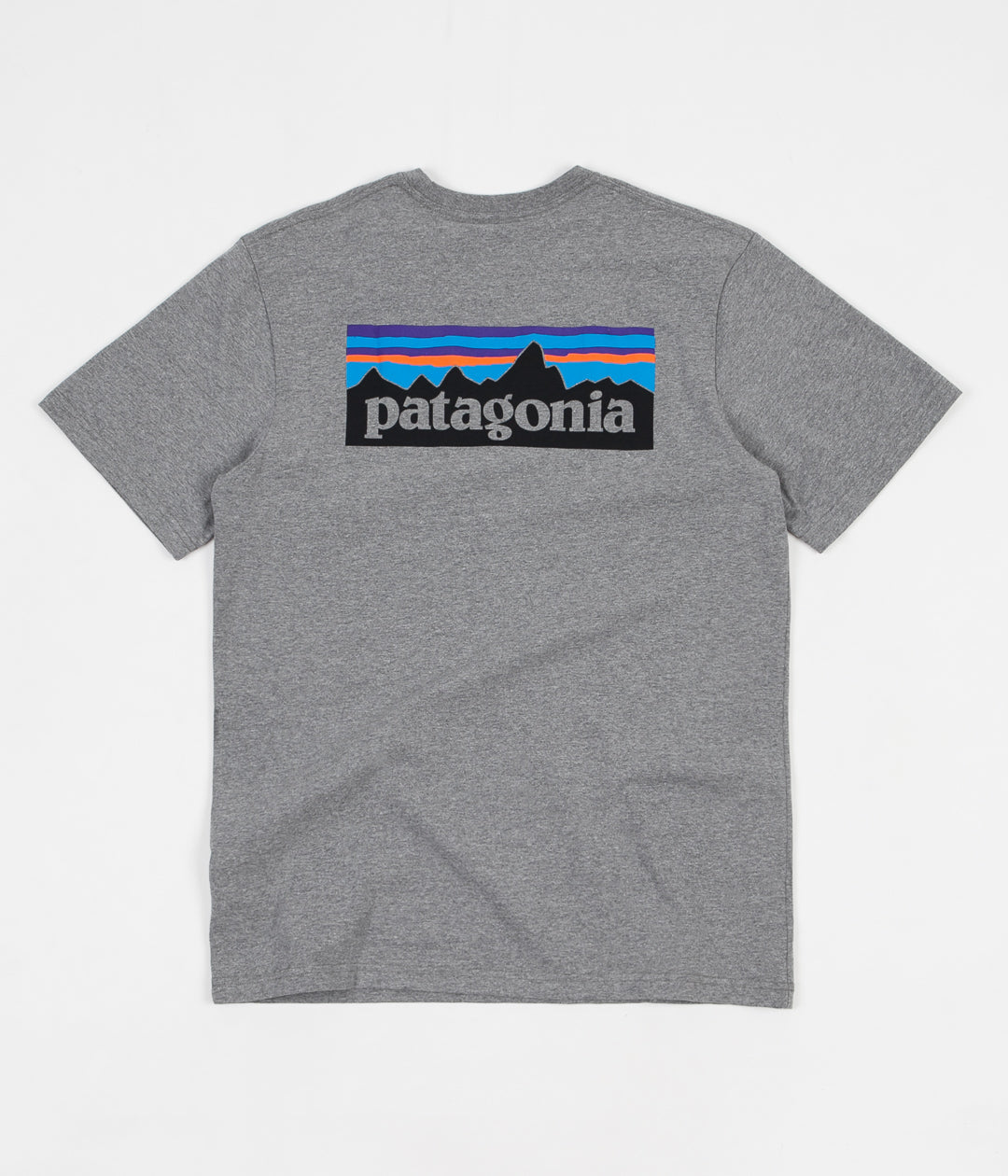 Patagonia P-6 Logo Responsibili-Tee Pocket T-Shirt - Gravel Heather