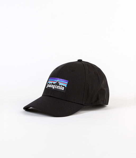 Patagonia P-6 Logo Stretch Fit Cap - Black