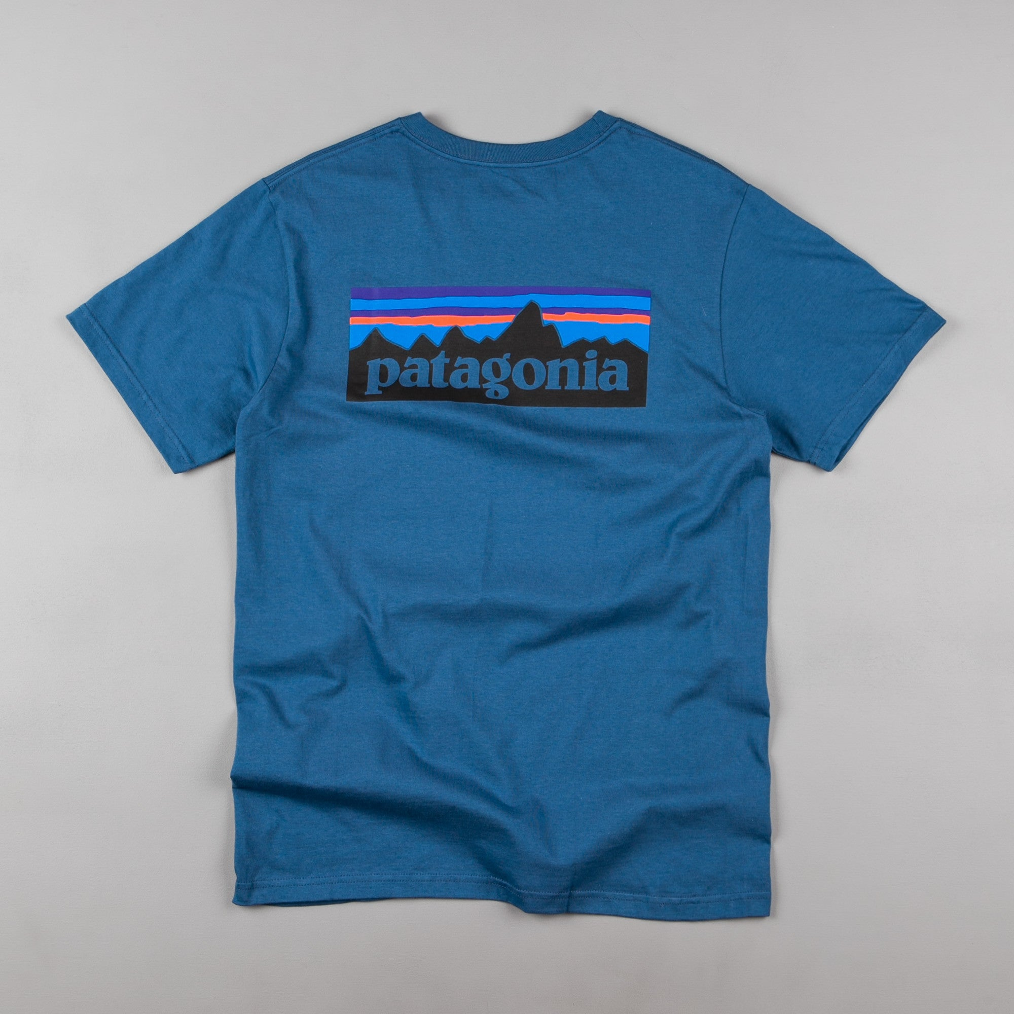 Patagonia P-6 Logo T-Shirt - Glass Blue
