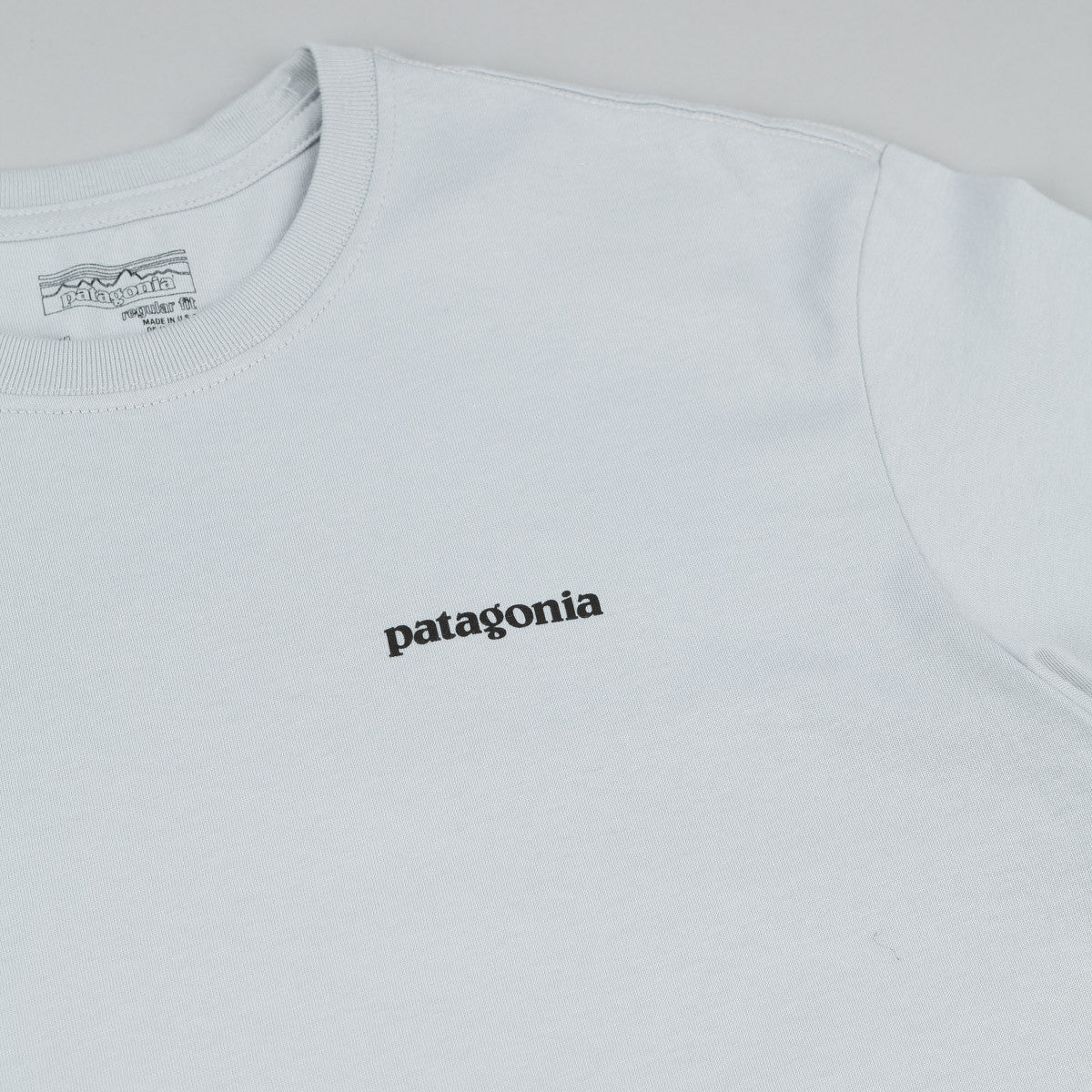 Patagonia P-6 Logo T-Shirt - Pebble Grey