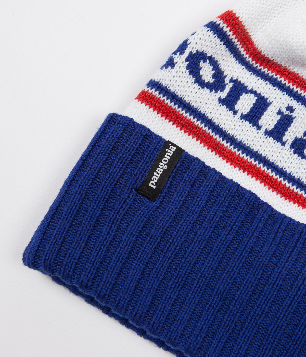 Patagonia Powder Town Beanie - Park Stripe / Viking Blue