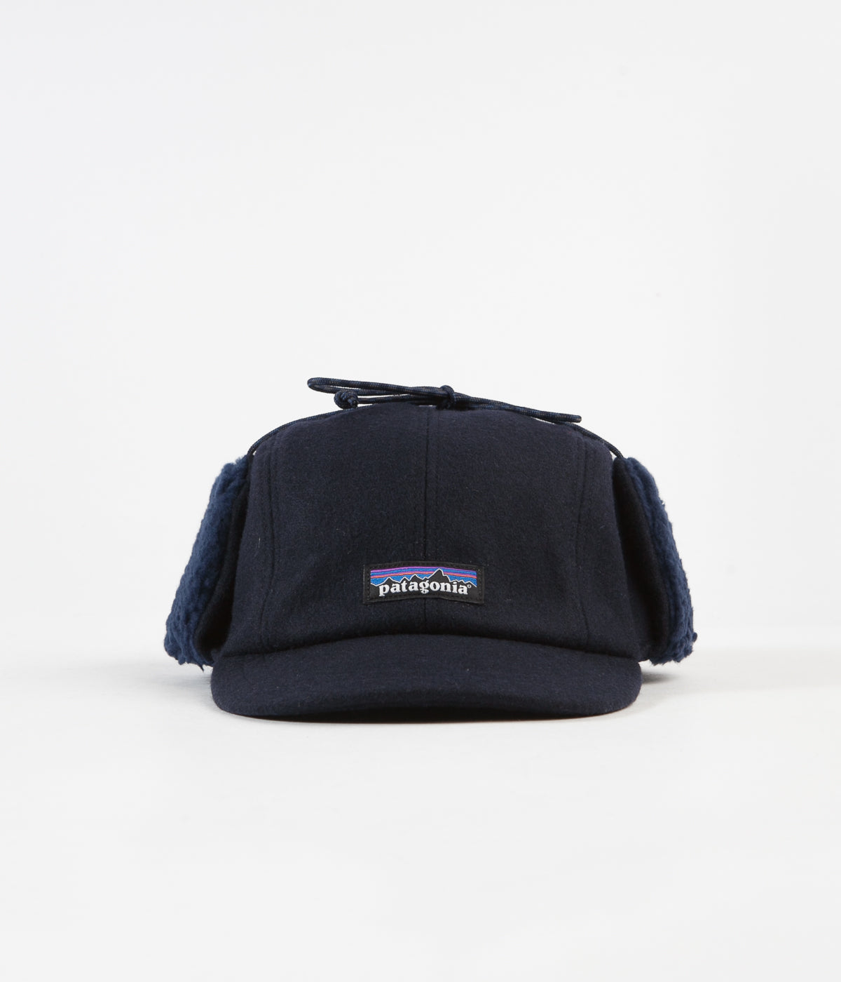 ff265bb43f203 ... Patagonia Recycled Wool Ear Flap Cap - Classic Navy ...