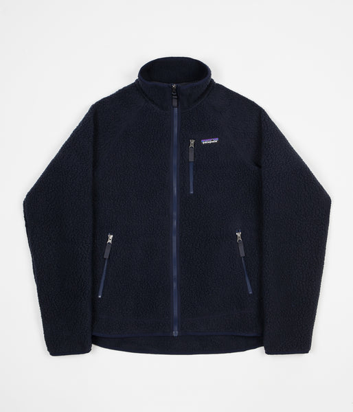 Patagonia Retro Pile Fleece Jacket - Navy Blue