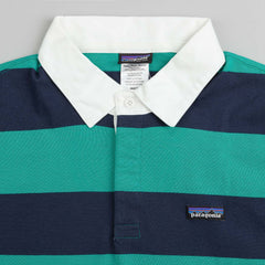 Patagonia Sender Short Sleeve Rugby Shirt - Emerald