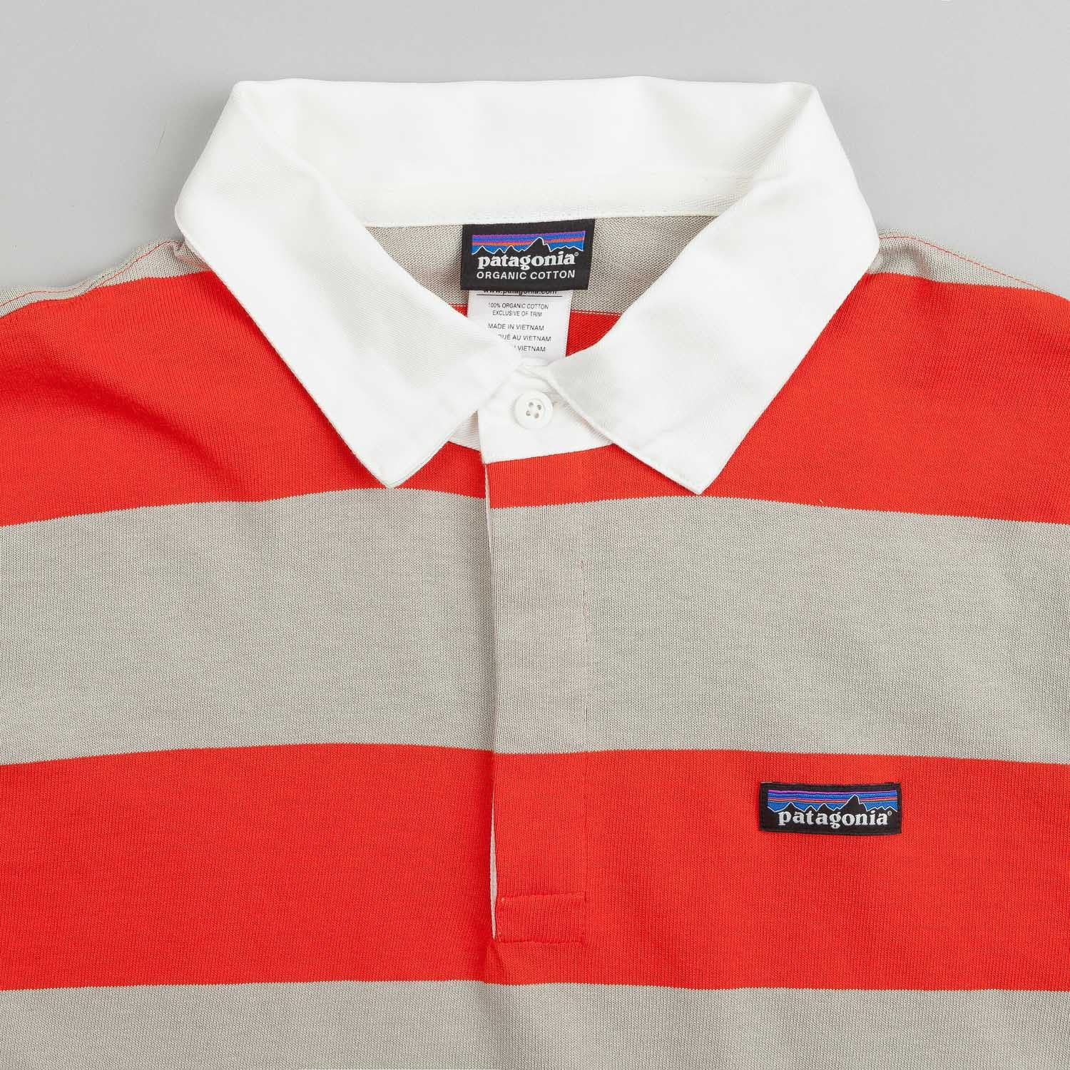 Patagonia Sender Short Sleeve Rugby Shirt - Turkish Red