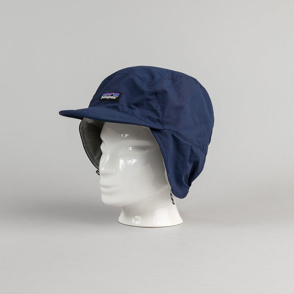 Patagonia Shelled Synchilla Duckbill Cap - Navy Blue With Feather Grey
