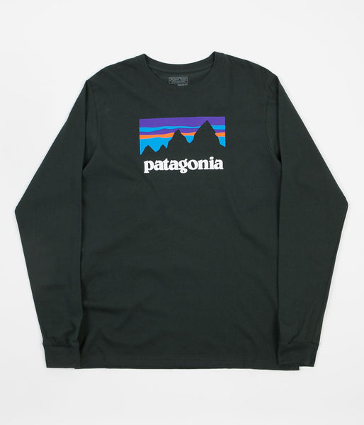 Patagonia Shop Sticker Long Sleeve T-Shirt - Carbon