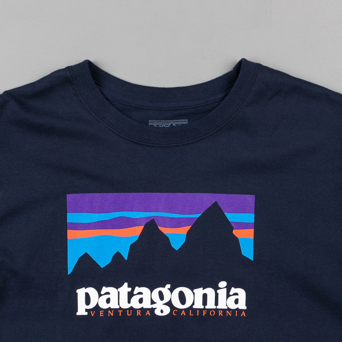 Patagonia Shop Sticker Long Sleeve T-Shirt - Navy Blue
