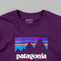Patagonia Shop Sticker Long Sleeve T-Shirt - Panther Purple