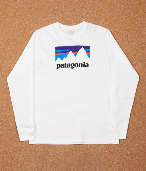Patagonia Shop Sticker Long Sleeve T-Shirt - White